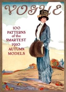 <em>Vogue</em> October 1, 1910 cover, by Helen Dryden.