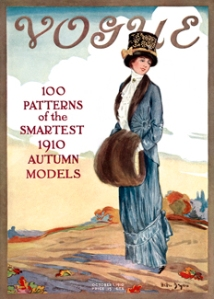 <em>Vogue</em> October 1, 1910 cover, by Helen Dryden.